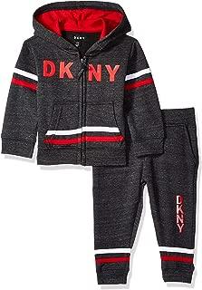 DKNY Baby Boys 5th Avenue Straited Fleece Hoody and Jog Pant