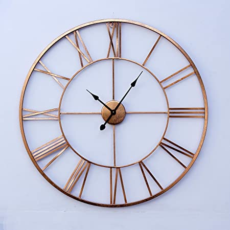 Buy Craftter Stylish And Latest Metal Wall Clock For Living Study Hall Dining And Bedroom Roman Modern Time Piece For Home Office Large Hanging Decorative Watch Sculpture Art 75 Cm