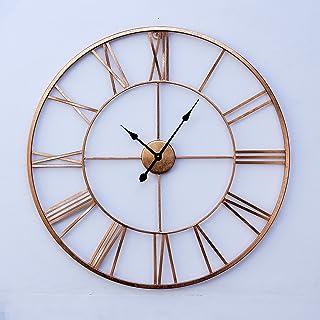 Craftter Premium Roman Sculpture Art Metal Wall Clock (Copper, 75Cms, Pack of 1)