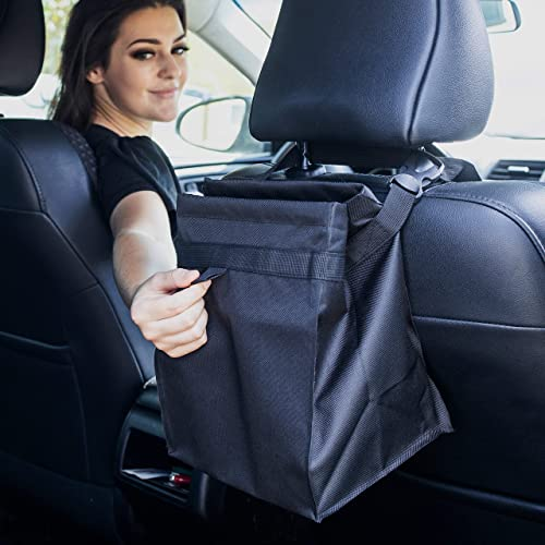 wholesale EcoNour Car Trash Bag with 100% new arrival Waterproof and Leakproof Interiors   Easy Mountable Car Garbage Can for Back Seat   Foldable Small Car online sale Garbage Bag and Multi-Use Interior Car Accessories online sale