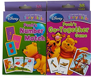 Friends Set of 2 Winnie the Pooh Card Decks, Number Match and Go-together Game