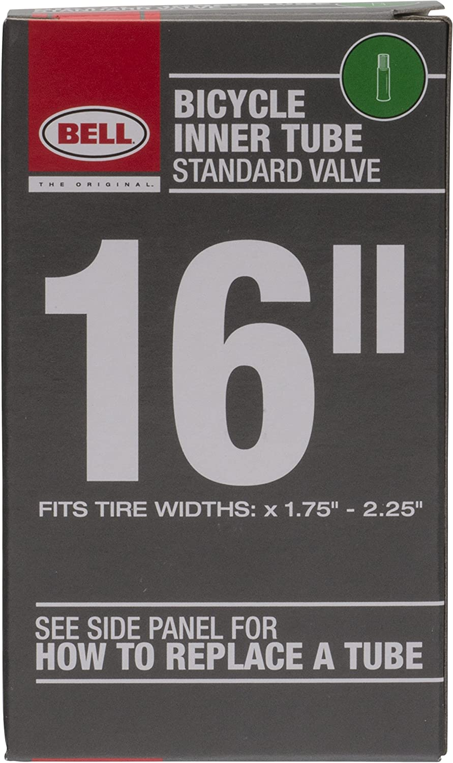 Bell 16-Inch Universal Inner Tube, Width Fit Range 1.75-Inch to 2.25-Inch, Black
