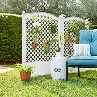 BrylaneHome Trellis Fence, Set of 2 - White
