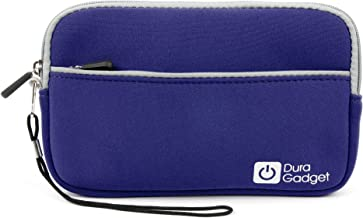 DURAGADGET Blue Neoprene Protective Zip Pouch - Compatible with The Maxtor D3 Station External Hard Drive 2TB STSHX-D201TDBM   3TB STSHX-D301TDBM   4TB STSHX-D401TDBM   5TB STSHX-D501TDBM