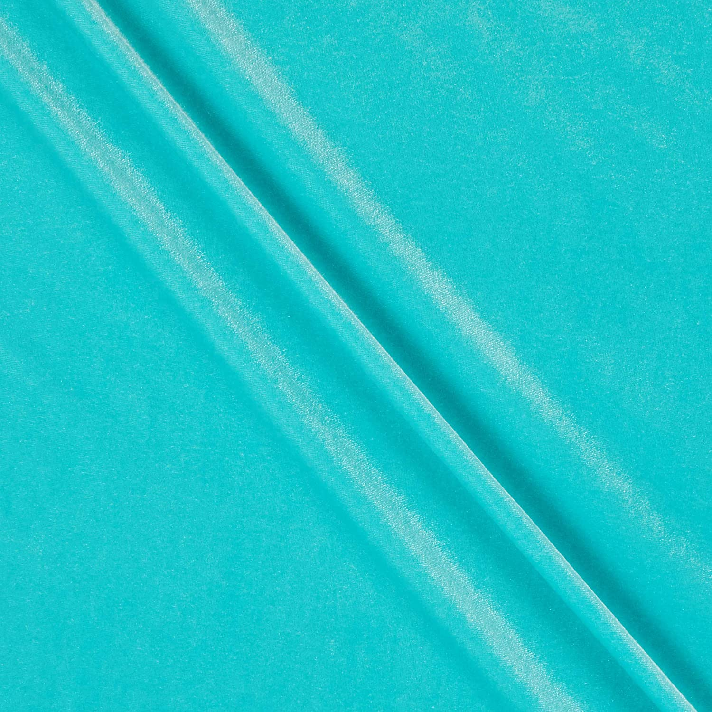 Stretch Velvet Fabric by The Yard Hunter Green