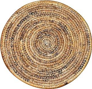 Table Mat  Trivet  Heat Resistant  Plate mat  African Table mats/African Woven Trivet/Rwanda Basket/Woven Table mats Hand Woven Coaster/Colorful hotpot Bohemian (Wood)