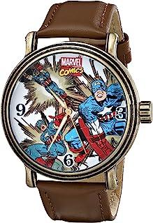 Marvel Men's W001759 The Avengers Captain America Analog-Quartz Brown Watch
