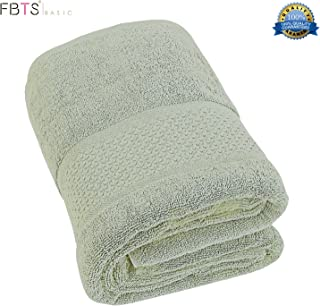 FBTS Basic Bath Towel (1-Pack, Green, 31x59 Inches) Pure Cotton Luxury Highly Absorbent Extra Soft Professional Grade Five-Star Hotel Quality
