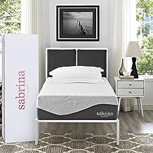 "Modway Premium Sabrina 12"" Latex Air Gel Cooling Ventilated CertiPUR-US Certified Memory Foam Mattress, Twin"