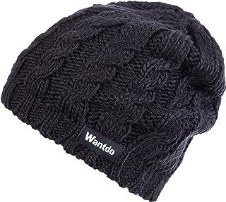 Wantdo Unisex Men's Women's Winter Knitted Warm Thick Outdoors Beanie Hat