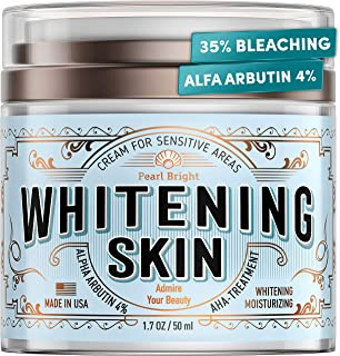 Whitening Cream for Sensitive Areas – Made in USA – Bleaching Cream for..