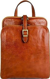 Time Resistance Lederrucksack Wandelbar zu Schultertasche - Tagestasche Reisetasche Rucksack