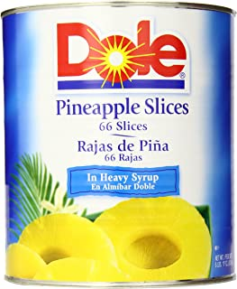 Dole Pineapple Slices in Heavy Syrup, 106 Ounce Cans (Pack of 6)