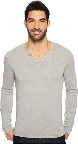 Mod-o-doc - Les Carillo Long Sleeve Notch Slub Jersey V-Neck