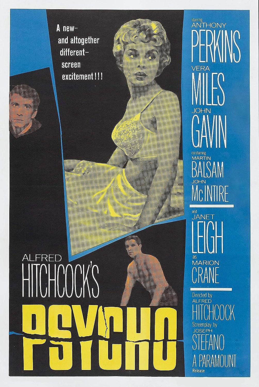 Black Creations Psycho 1960 2 Movie Poster Canvas Picture Art Print Premium Quality A0 A1 A2 A3 A4 (A0 Canvas (30 40))