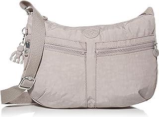 Kipling womens Izellah Crossbody Bag, Grey Gris, 12.25 L X 9.25 H X 5 D US