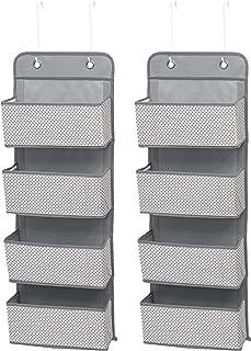 Delta Children 4 Pocket Over The Door Hanging Organizer – 2 Pack, Easy..