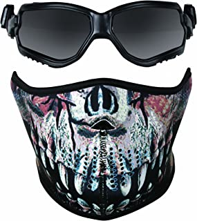 Crosman Elite ForceFlex Airsoft Goggles and Neoprene Predator Print Half Mask