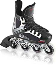Bladerunner by Rollerblade Dynamo Jr Size Adjustable Hockey Inline Skate, Black and Red, Inline Skates