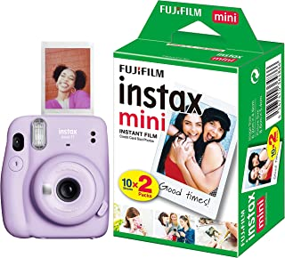 Fujifilm Instax Mini 11 Instant Camera (Lilac Purple) with Film Gift Offer