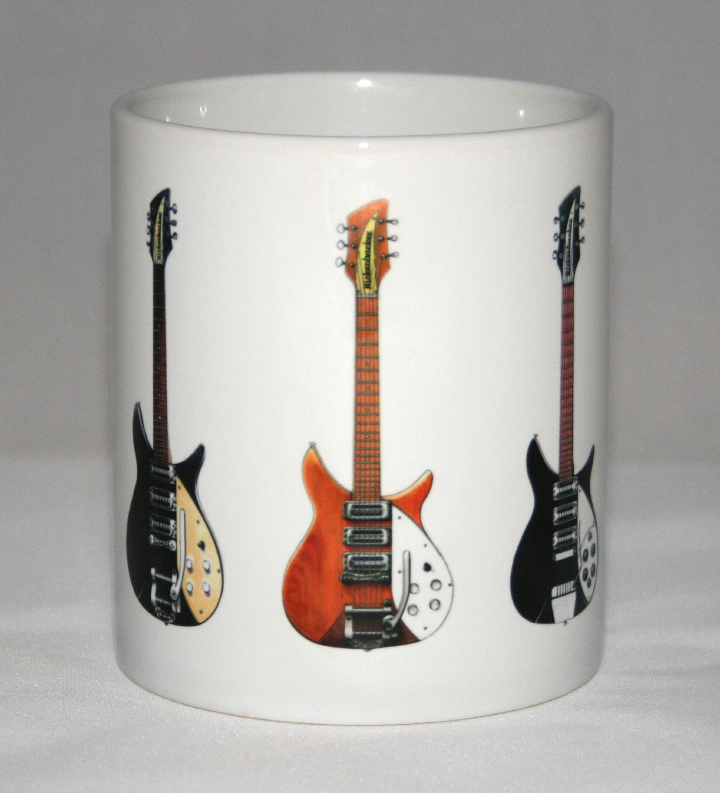 Taza de guitarra. John Lennon. 5 Guitarras famosas. Hofner ...