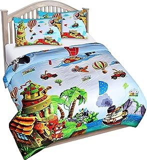 Utopia Bedding All Season Super Soft Jungle Theme Animals Kids Comforter Set - 3 Piece Toddler Bedding Sets for Boys - Full/Queen