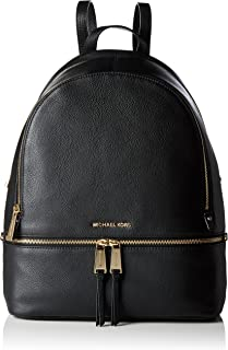 1769f875bda0 MICHAEL Michael Kors Rhea Zip Large Leather Backpack (Black)