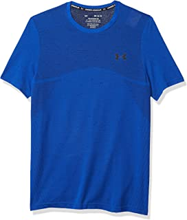 Under Armour Seamless T-Shirt Herren - Blau, Dunkelblau Camisetas. Hombre