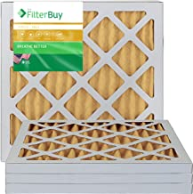 FilterBuy 14x18x1 MERV 11 Pleated AC Furnace Air Filter, (Pack of 4 Filters), 14x18x1 – Gold