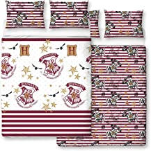Harry Potter Muggles Design Double Duvet Cover | Reversible Two Sided Official Harry Potter White Bedding Duvet Cover with...