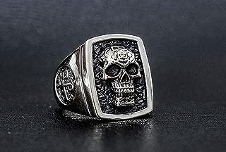 The Phantom Ghost Who Walks Biker Skull 925 Sterling Silver Rings Size 8-12
