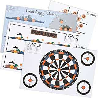 Juvale 40-Sheet Pack Paper Shooting Range Game Targets, 4 Designs, 11 x 17 Inches