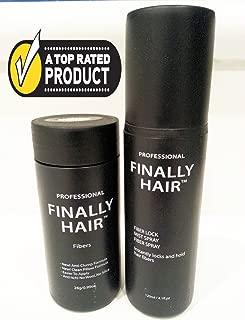 Finally Hair 28g Bottle of Fibers and Finally Hair 120ml 4.1 oz. Bottle of Fiber Lock Hair Spray (Sandy Blonde)