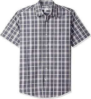 Amazon Essentials - Camisa de cambray de manga corta para hombre
