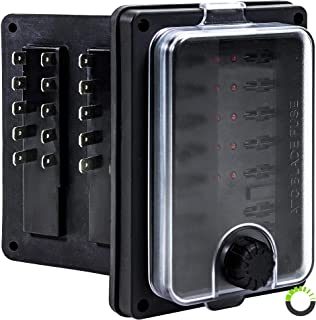 Waterproof Blade Fuse Box - [IP56] [LED Indicator for Blown Fuse] [Protection Cover] [250 Amp] - Fuse Block for Automotive/Marine Boats