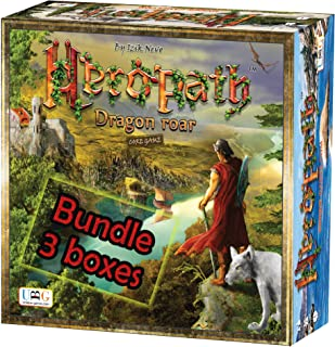 HEROPATH - Dragon Roar Board Game Bundle | Fantasy & Resource Management Tabletop Game | 1-6 Players with expansions | A Unique Strategic Adventure by Unique Board Games