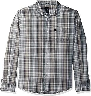 Men's Long Sleeve Regular Fit Yarn Dye Plaid Shirt