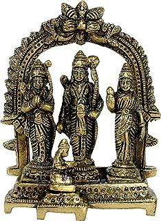 eSplanade Brass Ram Darbar (Rama,Sita,Laxman,Hanuman) Murti Idol Statue Sculpture (5.5
