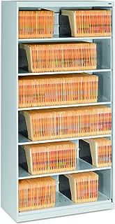 Tennsco Open Fixed Shelf Lateral File, 36w x 16 1/2d x 75 1/4, Light Gray