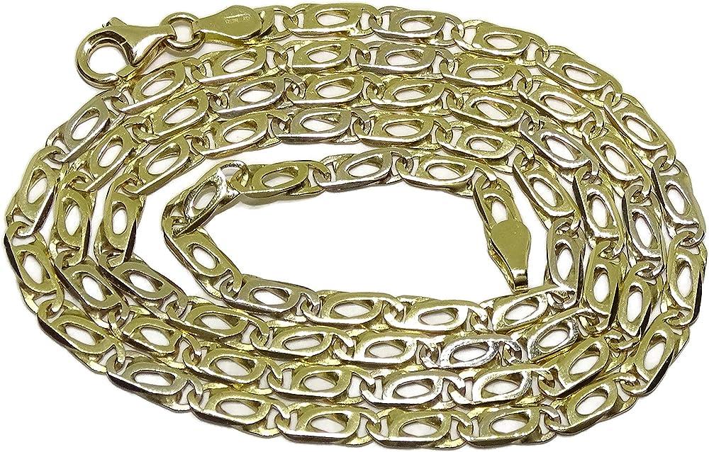Never say never collana da uomo in oro bicolore 18 k massiccio 14027143