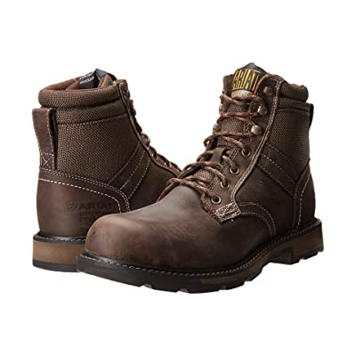 Ariat Groundbreaker 6 H2O Steel Toe (Dark Brown/Dark Olive Cordura) Men