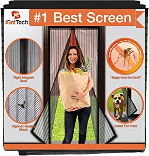iGotTech Magnetic Screen Door, Full Frame Seal. Covers Doors up to 34 x 82 Inches MAX...