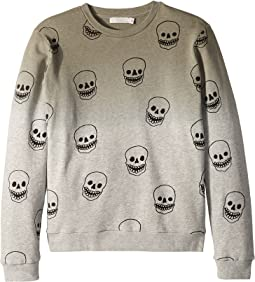 Biz Ombre Sweatshirt w/ All Over Skulls (Toddler/Little Kids/Big Kids)