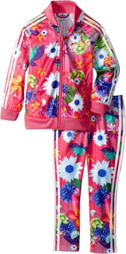 adidas Originals Kids - All Over Floral Superstar Tracksuit (Infant/Toddler)