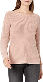 Goodthreads Women's Mineral Wash Ribbed Boatneck Pullover Sweater