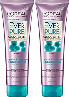 L'Oreal Paris Hair Care Ever Pure Sulfate Free Repair and Defend Conditioner, 2 Count
