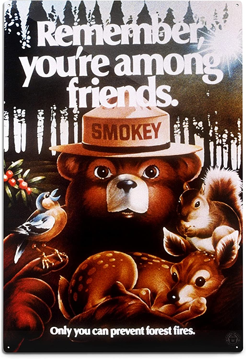 Lantern Press Smokey Bear Remember Friends Product Among You're Don't miss the campaign Vintag