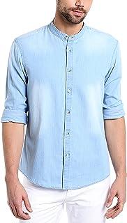 600ce6f4316a Denim Men's Shirts: Buy Denim Men's Shirts online at best prices in ...