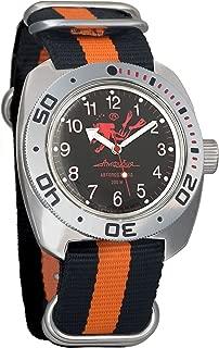 Vostok Amphibian Scuba Dude Diver AUTO Mens Wristwatch Military Amphibia Ministry Case Wrist Watch #710657