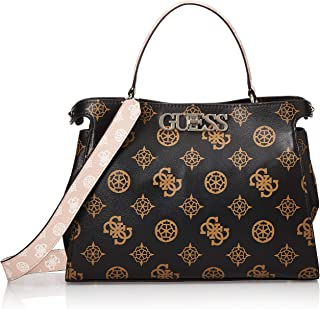 Guess Uptown Chic large Turnlock Satchel Bag